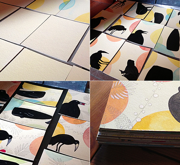 Steps in making the postcards