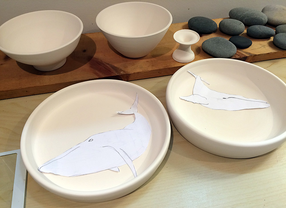 Ceramic plates and bowls