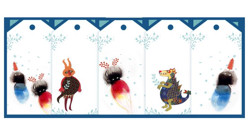 La Datcha's gift tags 2016