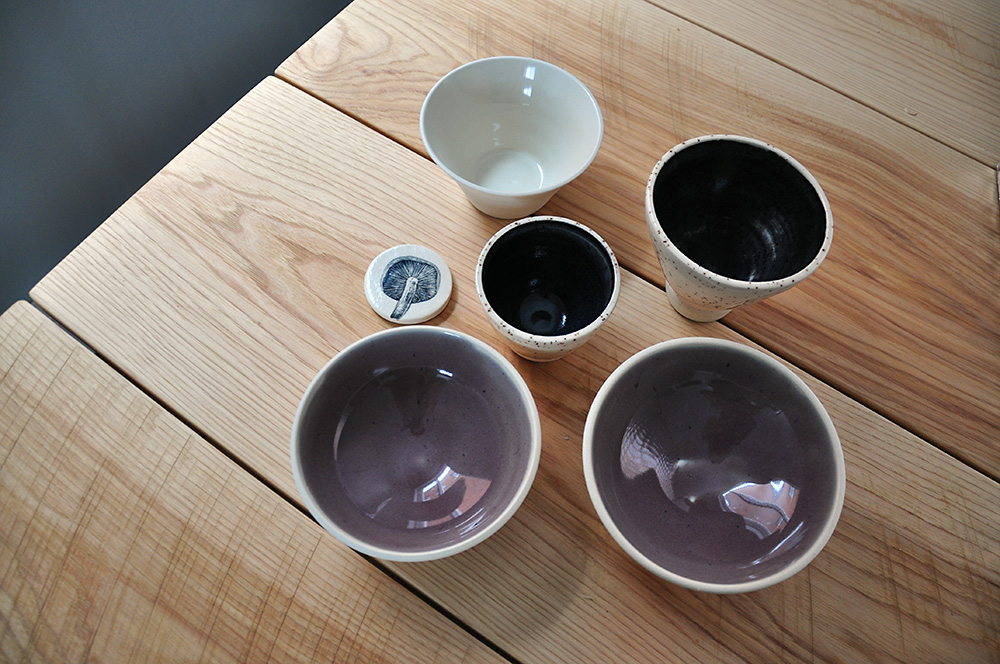 Fall and winter pottery pieces
