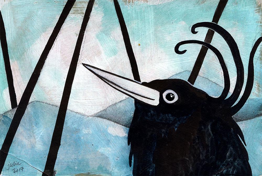 La Datcha: Black Bird mini card